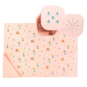 Austin Baby Collection Silicone On The Go Set - Wildflower Ripe Peach