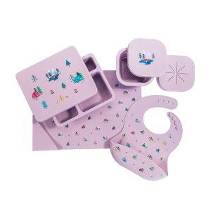 Austin Baby Collection Silicone Mealtime Set - Camper Violet