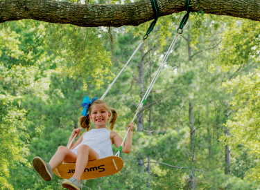 Swing Into Spring On A Swurfer Swing