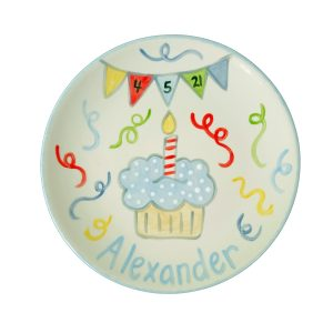 Caroline & Co Hand Painted Birthday Plate - Primary