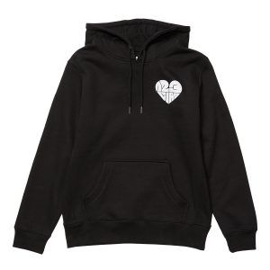 1,2,3 Ciao Women's Hoodie - Black with White Logo