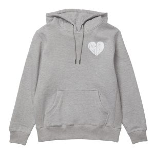 1,2,3 Ciao Women's Hoodie - Grey with White Logo