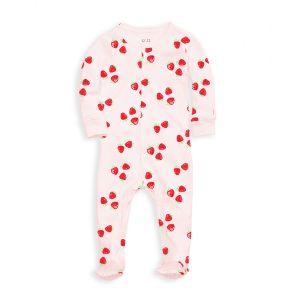 12   12 Baby Nightly Footed Pajama - Strawberries