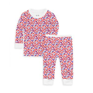 12 | 12 Baby/Toddler/Big Kid Nightly Pajama Set - Cherry Liberty