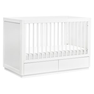 Babyletto Bento 3-in-1 Convertible Storage Crib with Toddler Bed Conversion Kit