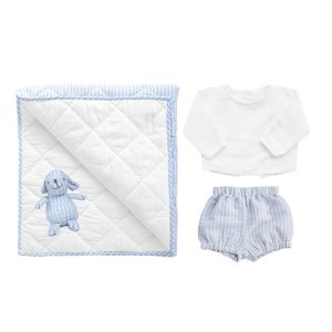 Louelle Newborn Essential Gift Set - Pale Blue Gingham