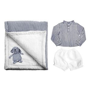 Louelle Newborn Essential Gift Set - Harbor Island Stripe