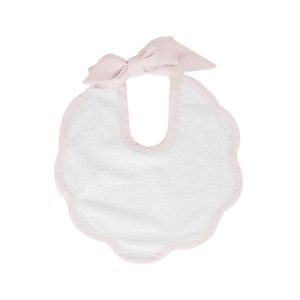 Louelle Scalloped Bib - Blossom Pink