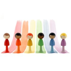 CLiCQUES Rainbow Boys Wooden Figurines
