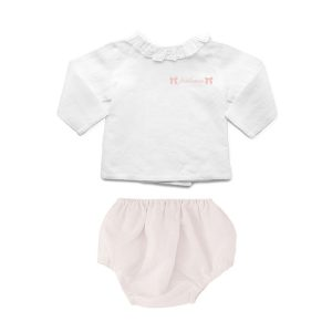 Louelle Personalized Bloomer and Blouse Summer Set – Blossom Pink