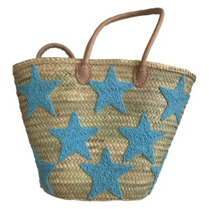 COLORES Collective Light Blue Star Tote