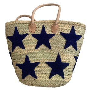 COLORES Collective Navy Blue Star Tote