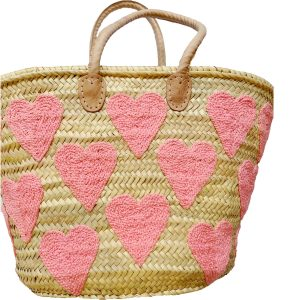 COLORES Collective Pink Heart Tote