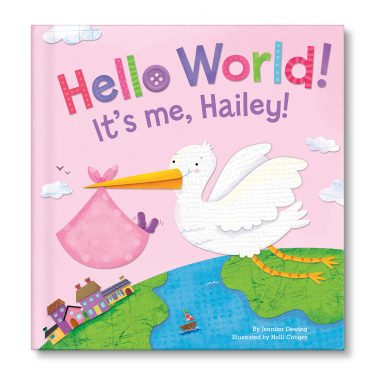 I See Me! Hello World Personalized Board Book - Pink