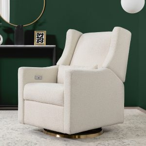 Babyletto Kiwi Electronic Recliner and Swivel Glider with USB Port - Ivory Boulce