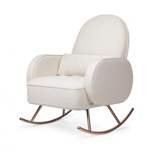 Nursery Works Compass Rocker in Eco-Performance Fabric | Water Repellent & Stain Resistant - Cream