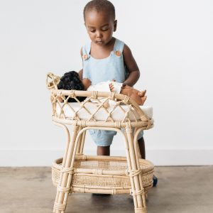 Ellie & Becks Co. Aria Doll Rattan Changing Table