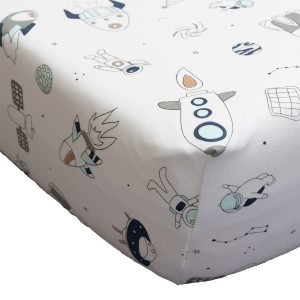 Baby Noomie Crib Sheets - Space Ships