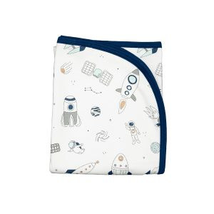 Baby Noomie Double Layer Blanket - Space Ships