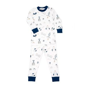 Baby Noomie Baby/Toddler/Big Kid Two Piece Pajama Set - Space Ships
