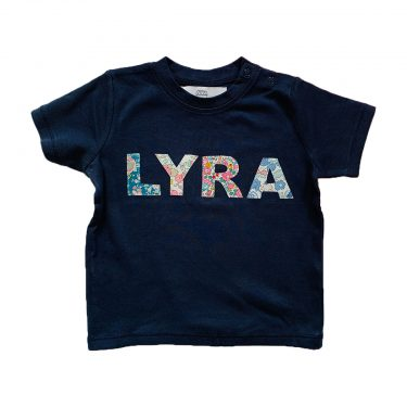 My Little Shop UK Baby/Toddler/Big Kid Liberty of London Personalized Short Sleeve T-Shirt