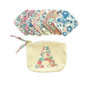 My Little Shop UK Liberty of London Reusable Face Wipes in Personalized Bag