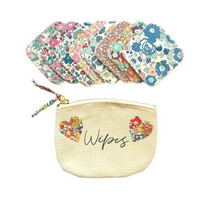 My Little Shop UK Liberty of London Reusable Face Wipes in Bag