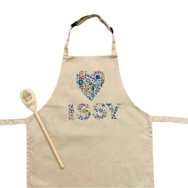 My Little Shop UK Toddler/Big Kid Liberty of London Personalized Name Apron - Heart