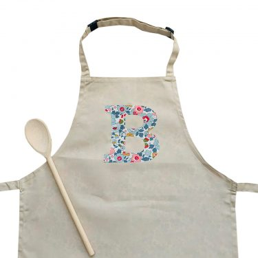 My Little Shop UK Toddler/Big Kid Liberty of London Personalized Initial Apron