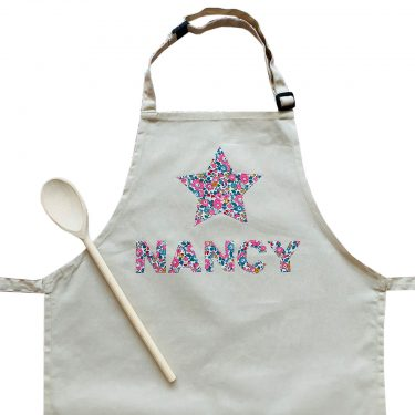 My Little Shop UK Toddler/Big Kid Liberty of London Personalized Name Apron - Star