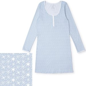 Lila + Hayes Ann Nightgown - Snowflakes In Blue