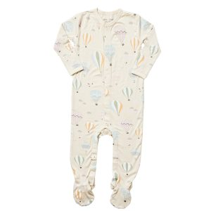 balloons ls footed bodysuit