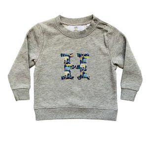 My Little Shop UK Baby/Toddler/Big Kid Liberty of London Personalized Grey Sweatshirt - Queue for the Zoo