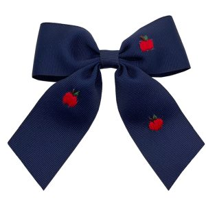 Winn and William Apple Orchard Embroidered Bow