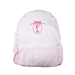 The Bella Bean Shop Personalized Backpack - Pink Gingham
