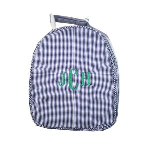 The Bella Bean Shop Personalized Lunch Box - Navy Gingaham