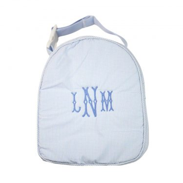 The Bella Bean Shop Personalized Lunch Box - Light Blue Gingham