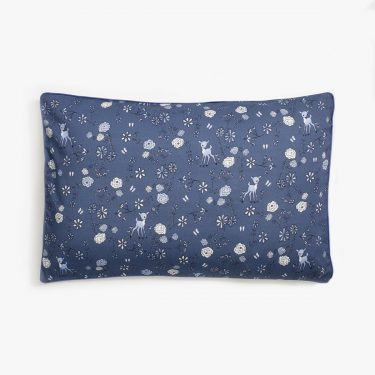 Gooselings Into The Woodlands Toddler Pillow - Blue