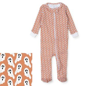 Lila + Hayes Baby/Toddler Parker Zipper Pajama-Ghosts