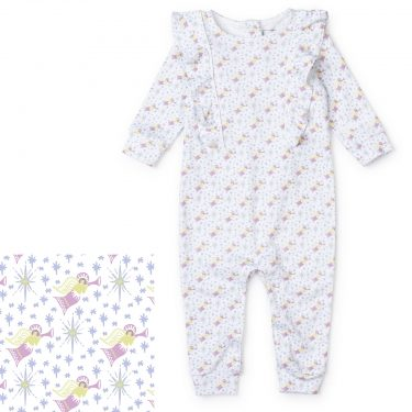 Lila + Hayes Baby Evelyn Romper - Angels