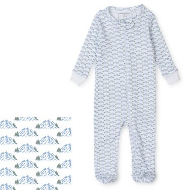 Lila + Hayes Baby/Toddler Parker Zipper Pajama - Mountain View