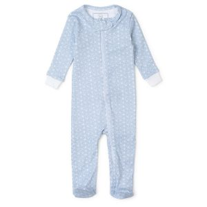 Lila + Hayes Baby/Toddler Parker Zipper Pajama - Snowflakes In Blue