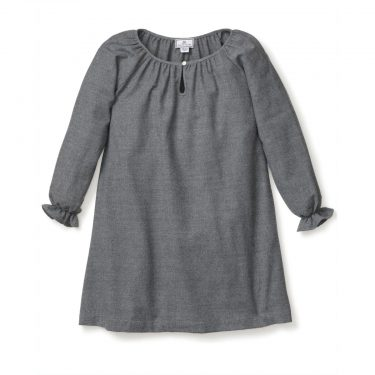 Petite Plume Baby/Toddler/Big Kid Grey Flannel Delphine Nightgown