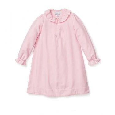 Petite Plume Baby/Toddler/Big Kid Pink Flannel Victoria Nightgown