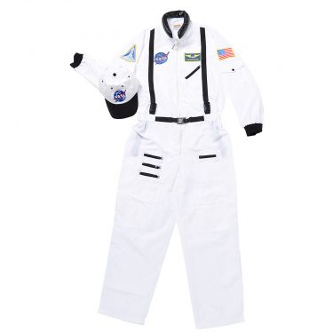 Aeromax Adult Astronaut Suit w/ Embroidered Cap - White