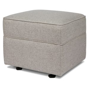 Million Dollar Baby Classic Willa-Alden Gliding Ottoman in Eco-Performance Fabric | Water Repellent & Stain Resistant - Grey