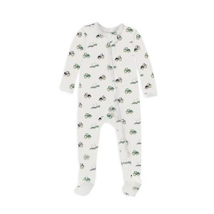 12 | 12 Baby Nightly Footed Pajama - Tractors12 | 12 Baby Nightly Footed Pajama - Tractors