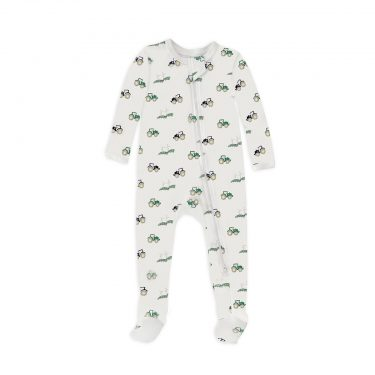 12   12 Baby Nightly Footed Pajama - Tractors12   12 Baby Nightly Footed Pajama - Tractors