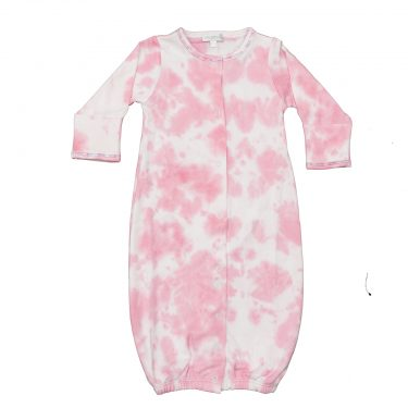 Baby Noomie Baby Convertible Gown - Bubble Gum Ti Dye