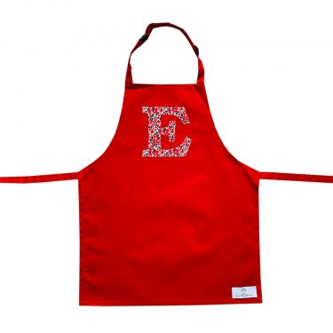 My Little Shop UK Toddler/Big Kid Liberty of London Personalized Initial Apron - Red
